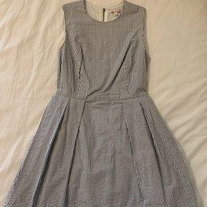Light blue and white stripe sun dress